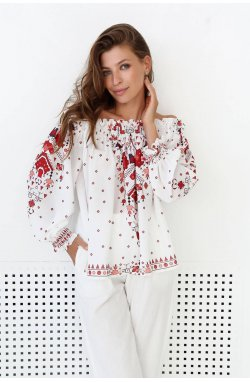 Блуза 3157-PW01 SM Молоко