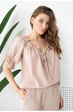 Блуза 3132-PW01 SM Бежевий