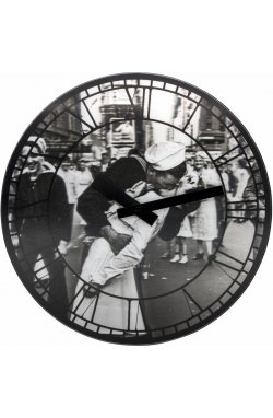 """Часы настенные 3D """"Kiss me in New York"""" ?39 см - wws-585"""