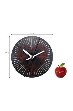 """Часы настенные, динамический рисунок, """"Motion Clock Heart"""" ?30 см - wws-586"""