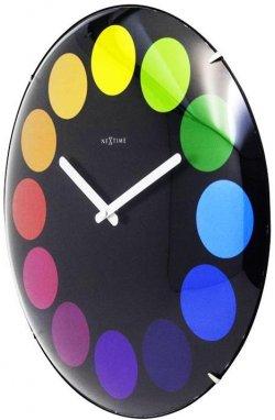 """Часы настенные """"Dots Dome"""", черные ?35 см - wws-814"""