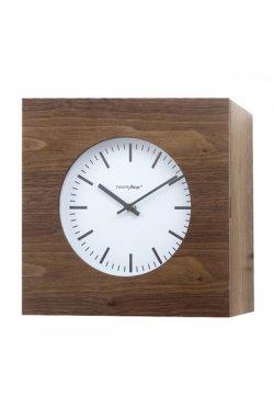 Часы настенные Balvi Qubo, коричневые - wws-3043