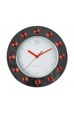 """Часы настенные """"Бриллианты"""", красные - wws-4185"""