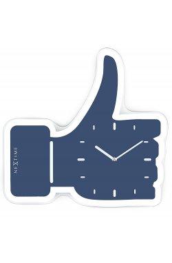 """Часы настенные """"Thumbs Up!"""", синие 23х20 см - wws-4212"""