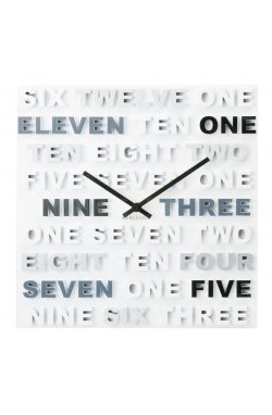 """Часы настенные """"One Two Three"""" 35х35 см - wws-7215"""