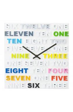 """Часы настенные """"One Two Three"""" цветные 35х35 см - wws-8290"""