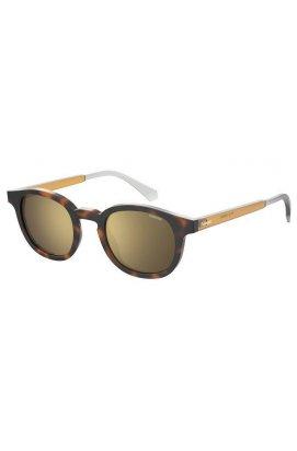 Солнцезащитные очки женские Polaroid PLD2096/S-086-LM - круглые;овальные, Цвет линз - золотой;серый