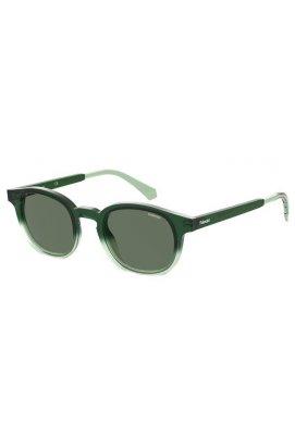 Солнцезащитные очки женские Polaroid PLD2096/S-1ED-UC - круглые;овальные, Цвет линз - зеленый