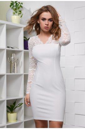 Платье Carica KP-10068-10 - Цвет Молоко