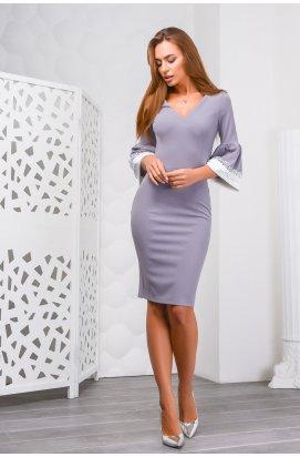 Платье Carica KP-10066-4 - Цвет Серый