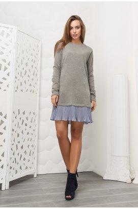 Платье Carica KP-10069-4 - Цвет Серый