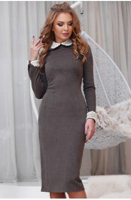 Платье Carica КР-10088-26 - Цвет Шоколад