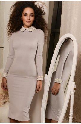 Платье Carica КР-10088-4 - Цвет Серый