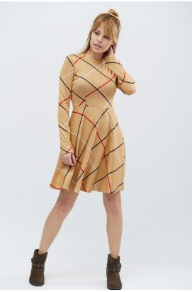 Платье Carica KP-5833-10 - Цвет Беж