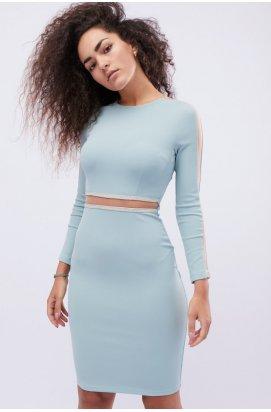 Платье Carica KP-10121-28 - Цвет Тиффани