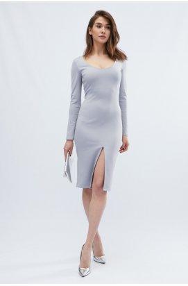 Платье Carica KP-10129-11 - Цвет Серо-голубой