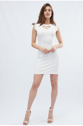 Платье Carica KP-10130-3 - Цвет Молоко
