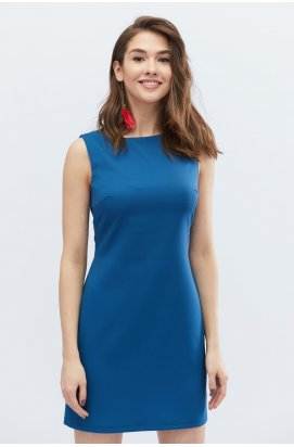 Платье Carica KP-10131-18 - Цвет Морская волна