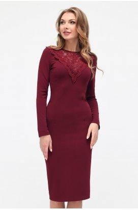 Платье Carica КР-10182-16 - Цвет Марсала