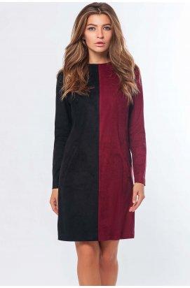 Платье Carica КР-10207-16 - Цвет Черный-марсала