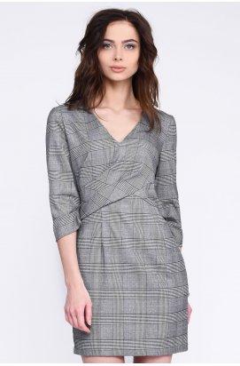 Платье Letta KP-50290-4 - Цвет Серый клетка