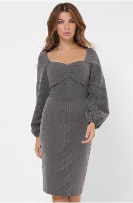 Платье Carica KP-10269-29 - Цвет Графит