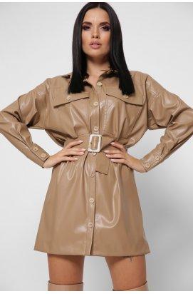 Платье-рубашка Carica KP-10354-10 - Цвет Бежевый