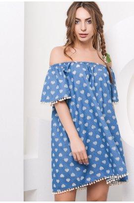 Платье Carica KP-10009-2 - Цвет Синий