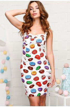 Платье Carica KP-5896-24 - Цвет Белый-красный