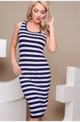 Платье Letta LP-0010-3 - Цвет Белый-синий