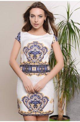 Платье Carica KP-5623-6 - Цвет Белый-желтый