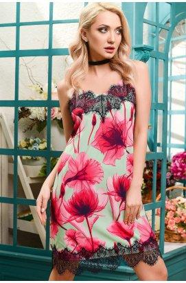 Платье Carica KP-5885-7 - Цвет Мята-малина