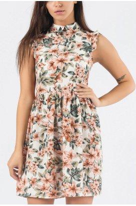 Платье Carica KP-10158-1 - Цвет Хаки-терракот
