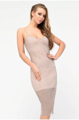 Платье Carica KP-10216-25 - Цвет Пудра
