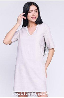 Платье Carica KP-10264-15 - Цвет Серо-розовый