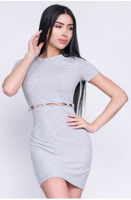 Платье Carica KP-10241-4 - Цвет Светло-серый