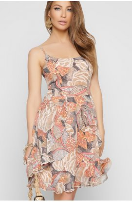 Платье Carica KP-10330-10 - Цвет Бежевый
