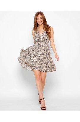 Платье Carica KP-10368-10 - Цвет Бежевый