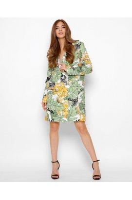 Платье-пиджак Carica KP-10371-12 - Цвет Зеленый