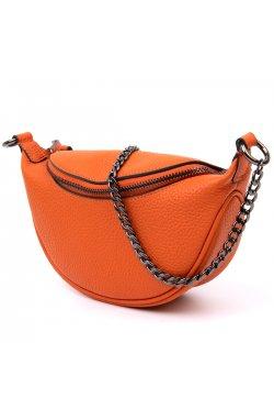 Сумка клатч с цепочкой Vintage 20408 Оранжевая