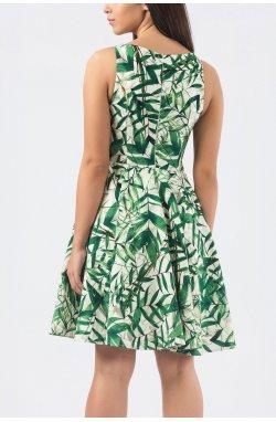 Платье Carica KP-10150-3 - Цвет Бело-зеленый