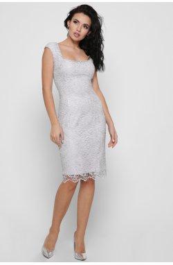 Платье Carica KP-10296-20 - Цвет Сильвер