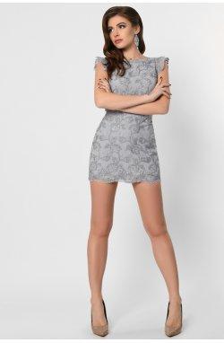 Платье-комбинезон Carica KP-10294-20 - Цвет Сильвер