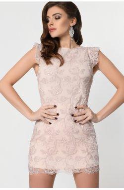 Платье-комбинезон Carica KP-10294-25 - Цвет Пудра
