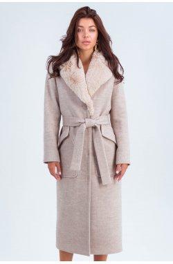 Пальто женское Пандора бежевый - зима