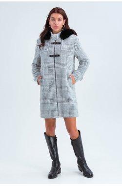 Пальто женское Корделия серый - зима