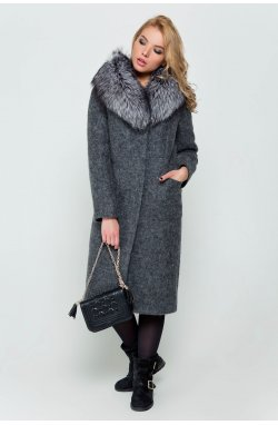 Пальто женское Фиби серый - зима