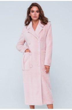Пальто женское Скарлетт розовый - осень