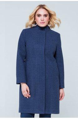 Пальто женское Рут голубой - демисезон