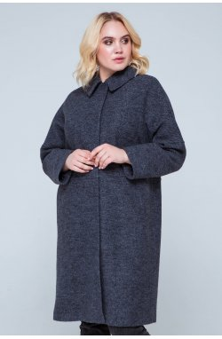 Пальто женское Лана антрацит - демисезон